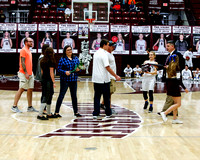 THS Boys , Girls Basketball plus Cheerleading Senior Night 1/27/2018