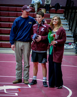 THS Wrestling Senior Night Recognition 2018-19