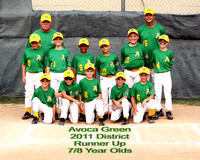Avoca Baseball 7/8 District 2011