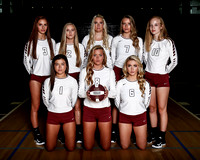 THS Varsity Volleyball 2017-18 Team and Individual Photos
